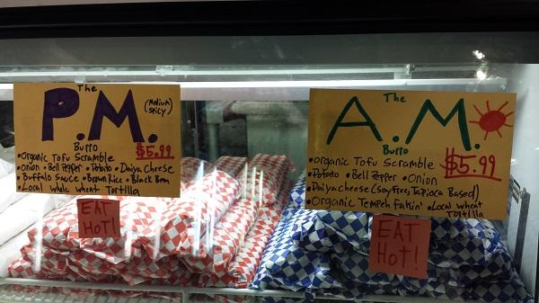 Tempe Farmer's Market vegan burritos