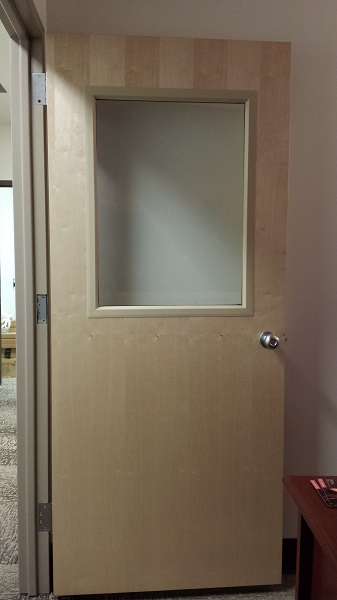 Gorgeous new door all the way open in my office.