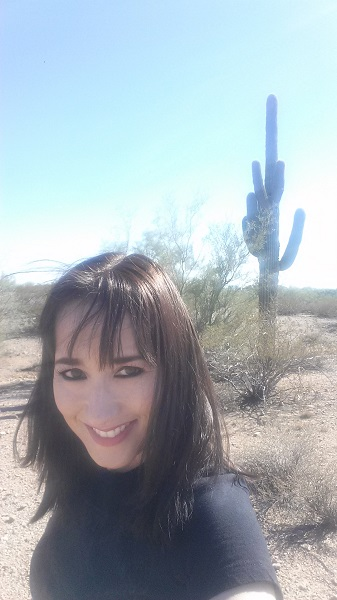 With saguaro and a bunch of sun and wind.