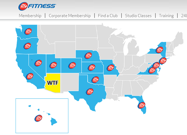 24 Hour Gym Locator : La fitness takes over hour in az and au revoir