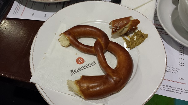 Wonderful pretzels in Germany!