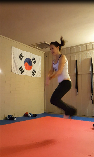 Cross-overs with high jumps to mix things up.