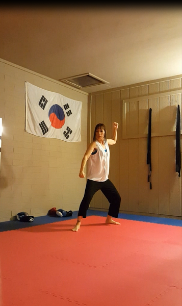 Left hand groin attack (pull at the end of the technique)