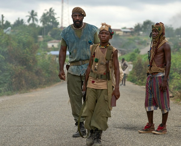 Idris Elba and Abraham Attah in Beasts of No Nation.