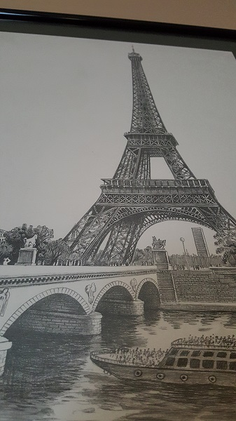 Eiffel tower pencil sketch