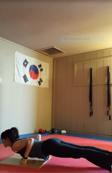 Wood board push-up, bottom