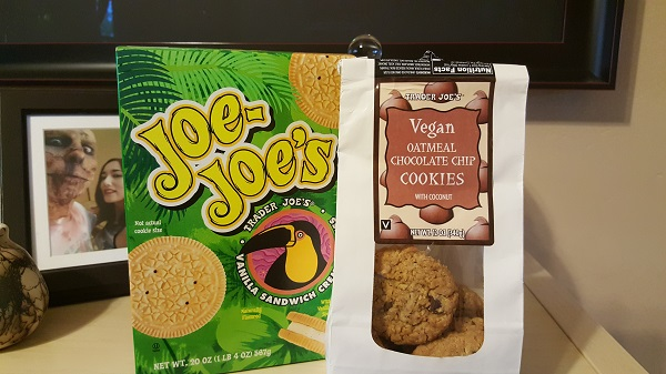 Cookies from Trader Joe's. Yes, they're vegan.