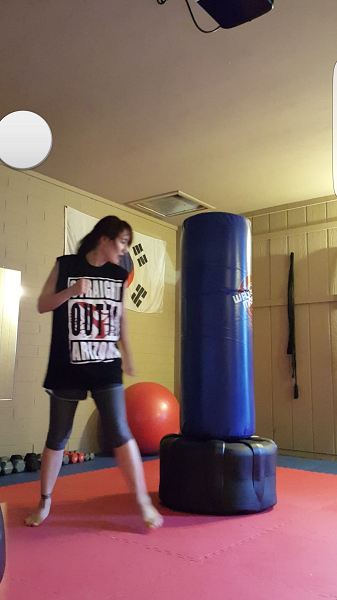 Sparring the bag is a great moving meditation for me.