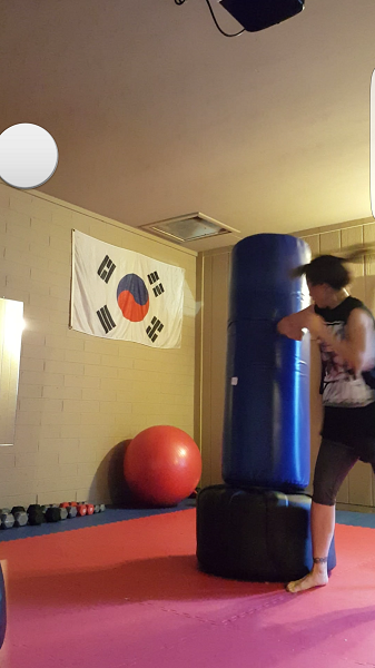 Spinning back elbow.