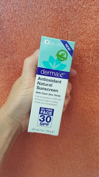 derma e Antioxidant Natural Sunscreen with clear zinc oxide (SPC 30)