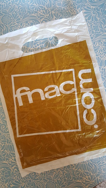 An old plastic bag from one of my many purchases at la fnac.
