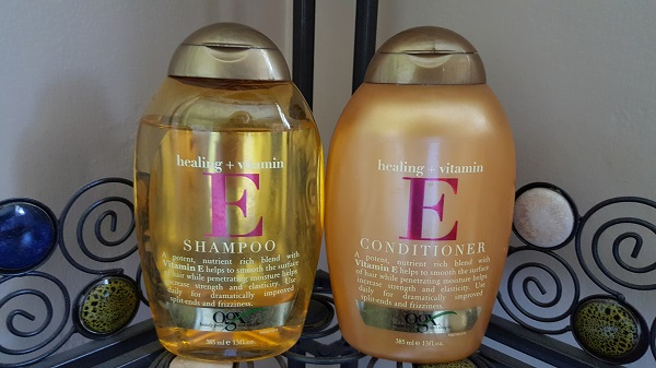OGX Healing + Vitamin E shampoo and conditioner
