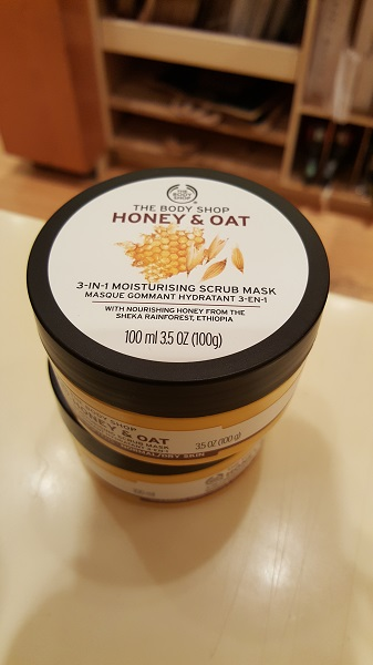 The Body Shop Honey and Oat 3 in 1 moisturising scrub mask