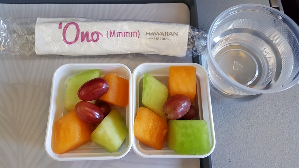Breakfast on the airplane