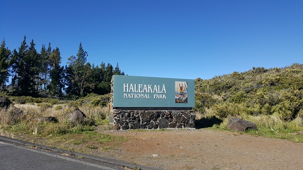 Entering the Haleakala National Park