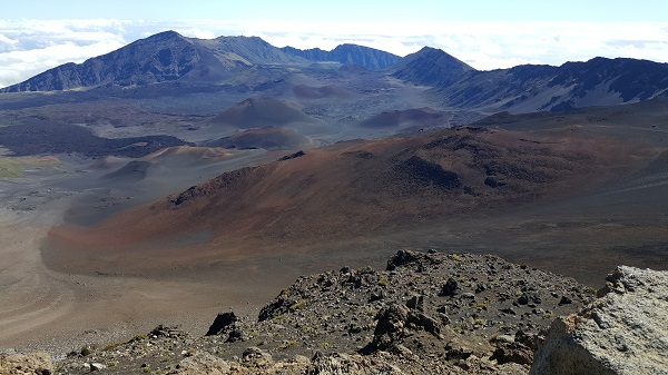 The Haleakala volcano crater is too vast to capture in one phone pic...