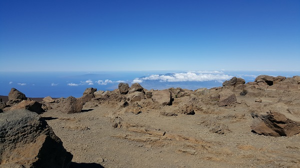 Haleakala volcano crater (10,023 ft above sea level)