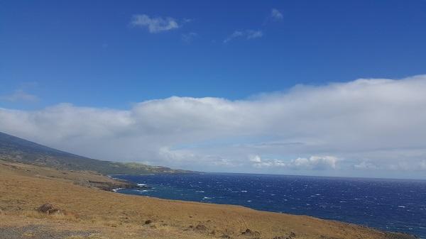 Desert-like land meeting the ocean... the opposite of the rainforest meeting the ocean at the black sand beach