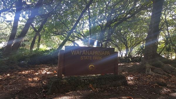 Entering the Waianapanapa State Park