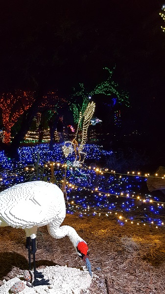 Phoenix Zoo Lights 2016 (with Lego sculpture)